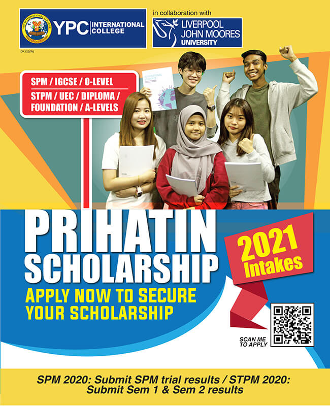YPC International College Prihatin Scholarship 2021 intakes Mobile